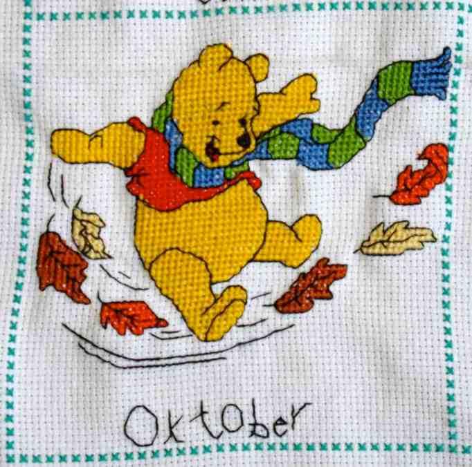 Borduurwerk Pooh (oktober)
