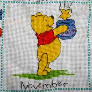Borduurwerk Pooh (november)