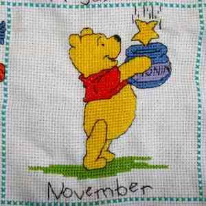 Borduurwerk Pooh (november)