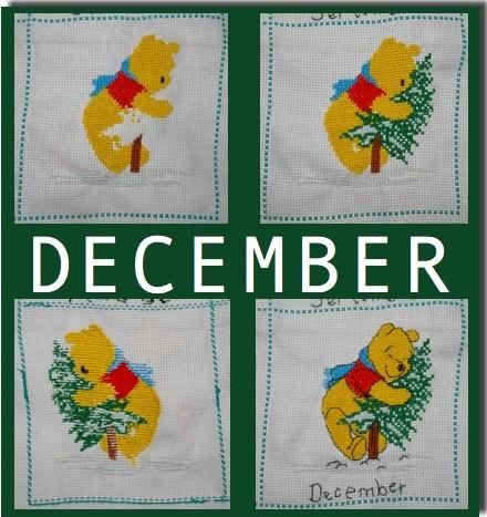 Borduurwerk Pooh (December)