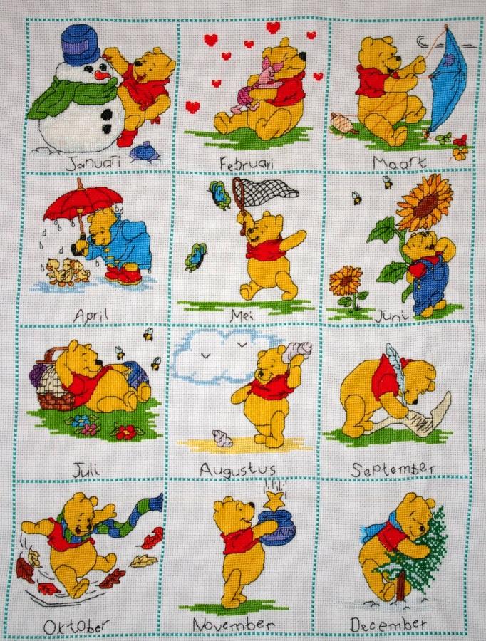 Borduurwerk Pooh (Volledig Jaar)