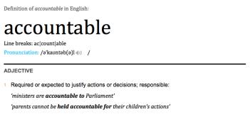 Definition - Accountable