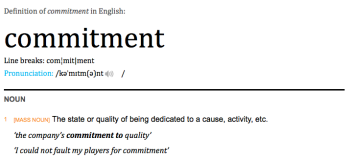 Definition - Commitment