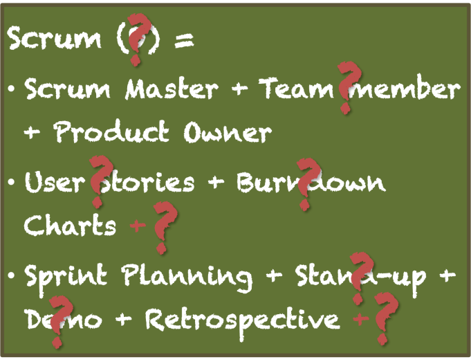 Definition of Scrum (9?) interpretations of Scrum