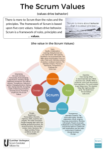 The Scrum Values (poster)