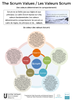 The Scrum Values (Poster French)
